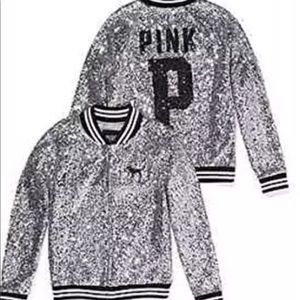 PINK VICTORIA'S SECRET BLING FASHION SHOW JACKET